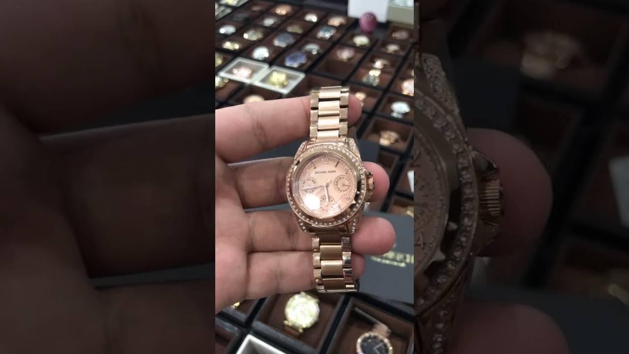 3c299c9e7d1e Michael Kors Blair Multi-Function Rose Gold-tone Ladies Watch MK5613 ...