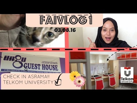 CHECK IN ASRAMA?! JAKARTA-BANDUNG?! GUEST HOUSE UNGU?! // TELKOM UNIVERSITY #FAIVLOG1