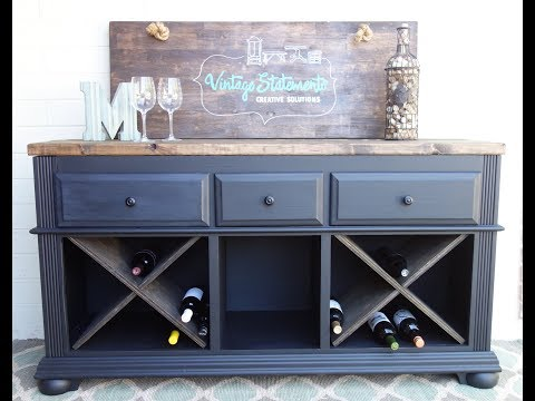 Dresser transformation: DIY Wine Dresser