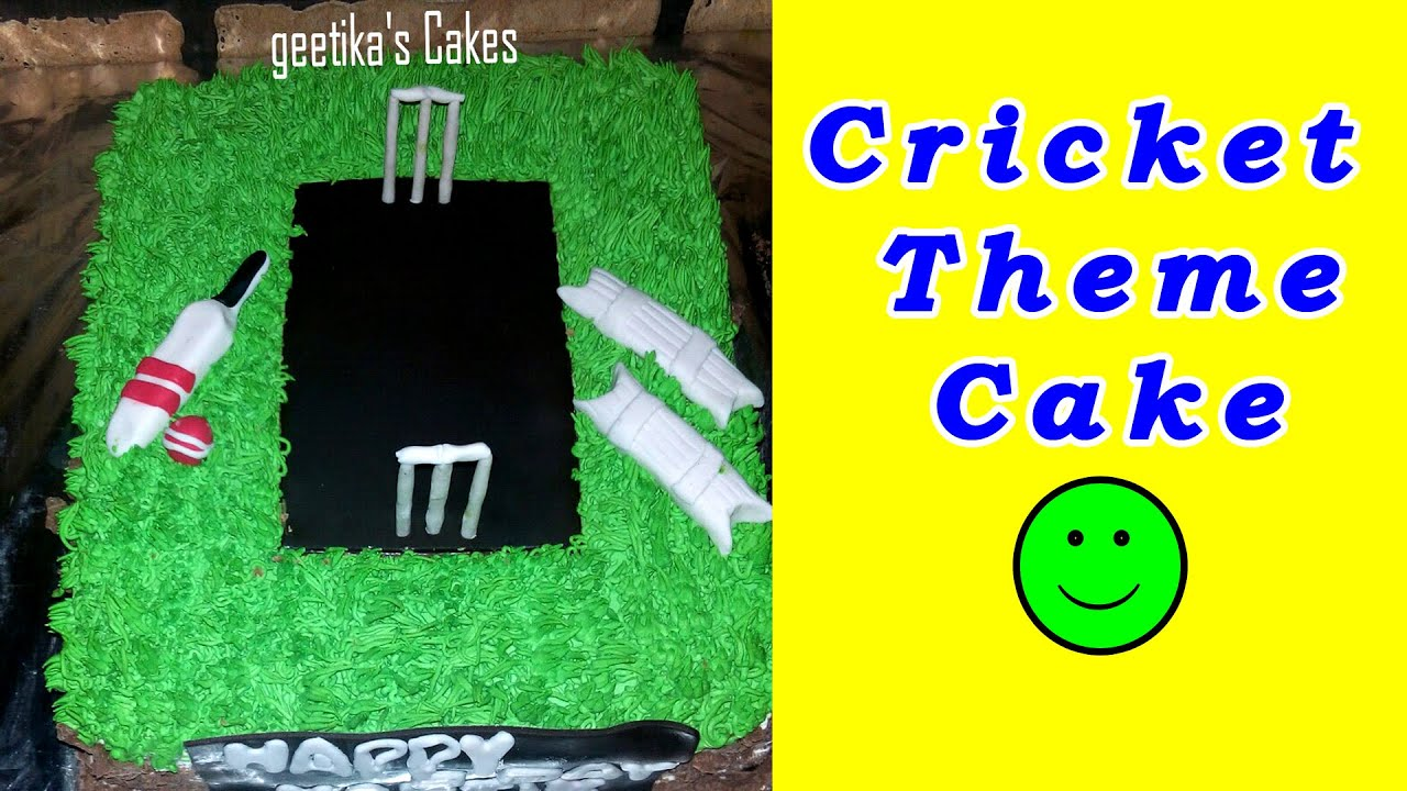 CRICKET THEME Birthday Cake Recipe for Children with Fondant by