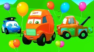 Festival of Color Air Balloons - Funny Stories for Kids from The City of Little Cars
