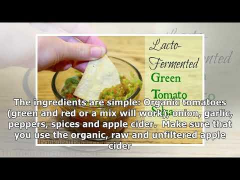 Recipe: Lacto-Fermented Green Tomato Salsa
