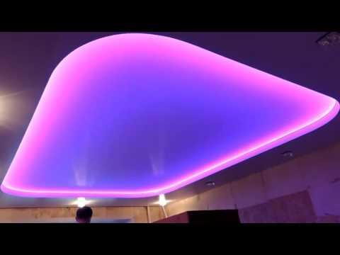 Красивая подсветка потолка  Светодиодная лента
