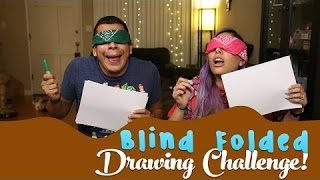 TiffyQuake | Blind Folded Drawing Challenge!