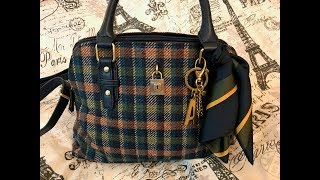 What's in my Time & Tru Plaid Juliet Satchel Bag from Walmart
