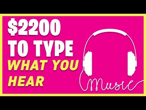 Earn PER HOUR Typing What You Hear! (Make Money Online For Beginners)