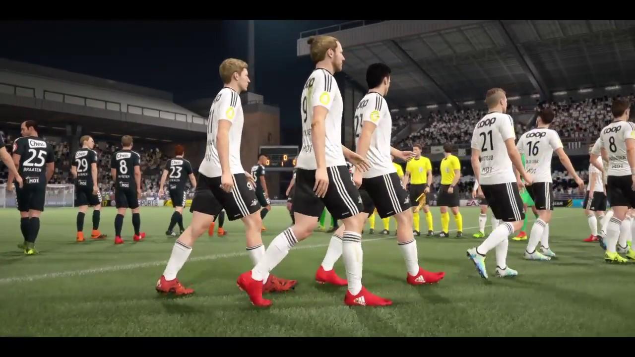 FIFA 17 - ROSENBORG BK VS SK BRANN GAMEPLAY - NORWAY TIPPELIGAEN LEAGUE