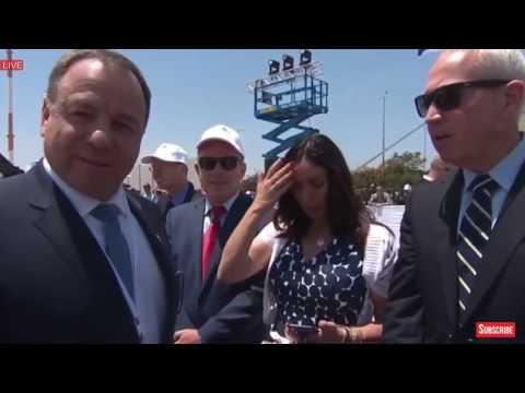 AMAZING President Donald Trump Israel, Tel Aviv, Airport Welcome Ceremony Netanyahu, Rivlin, Jerusa