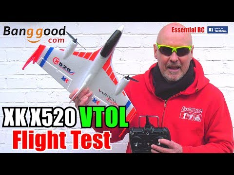 XK X520 READY TO FLY VTOL Vertical Takeoff And Landing 3D RC Airplane: ESSENTIAL RC FLIGHT TEST