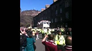 The Hearts Scottish cup winning team