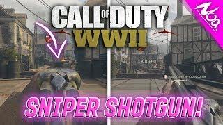 SNIPING WITH A SHOTGUN ON COD WW2!! - INSANE COD: WWII BETA SHOTGUN SNIPER GAMEPLAY!   YoutubeNoa