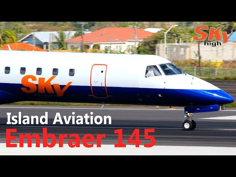 Sky High Aviation Embraer 145 departing St. Kitts for the Dominican Republic !!!