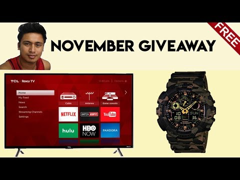 Free Original Casio G-SHOCK And 40 Inch TCL LED Smart TV! Bibiano Forex November Giveaway