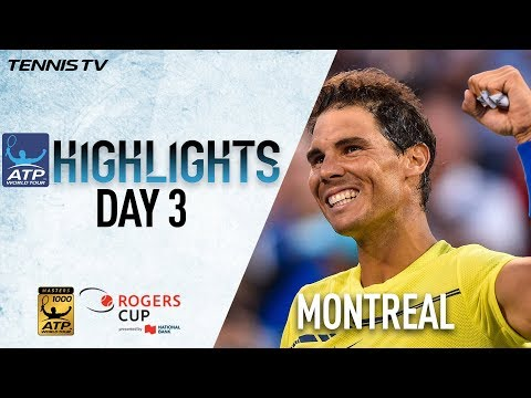 Wednesday Highlights: Federer, Nadal, Monfils Advance In Montreal 2017