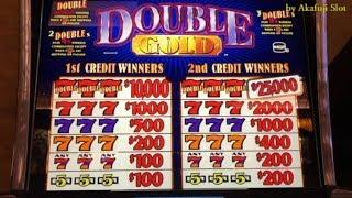 Old School Slots - DOUBLE GOLD High Limit Slot / 2x3x4x5x Super Times Pay Slot@ Pechanga 赤富士スロット カジノ
