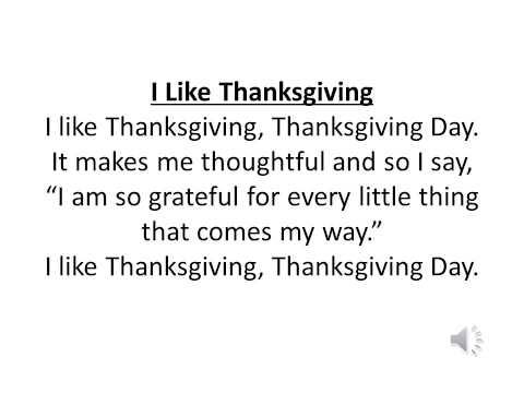 I Like Thanksgiving