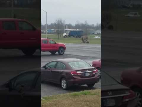 Trash truck police chase in calvert city
