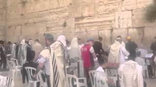 Wailing And Crying Heard At The Wailing Wall Of Jerusalem