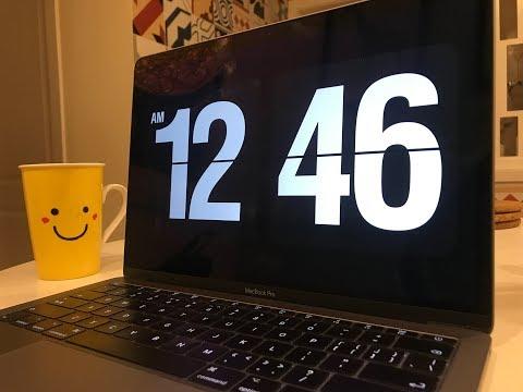 这个用 Mac 的都会喜欢,最百搭的 Fliqlo 免费翻页时钟屏保