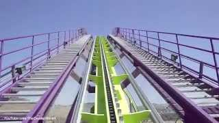 (SFDK) Medusa Roller Coaster Front Seat (HD POV) Six Flags Discovery Kingdom California