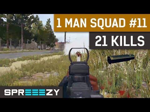 PUBG 1 Man Squad Game #11 | 21 Kills | Blue Zone Too Stronk