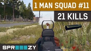 PUBG 1 Man Squad Game #11 | 21 Kills | Blue Zone Too Stronk