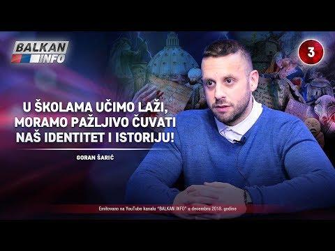 INTERVJU: Goran Šarić - U školama učimo laži, moramo čuvati naš identitet i istoriju! (26.12.2018)