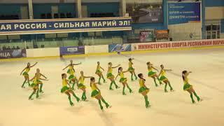 Чемпионат России по синхронному катанию  1 спортивный разряд  ПП 7 Санрайз 2 СПБ