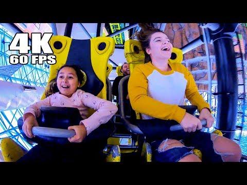 Las Vegas El Loco Roller Coaster! 4K60 Front Seat POV Adventuredome Circus Circus