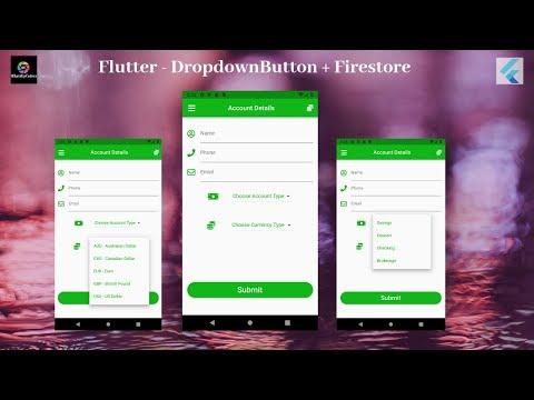 Flutter Tutorial - Flutter DropdownButton with Firestore