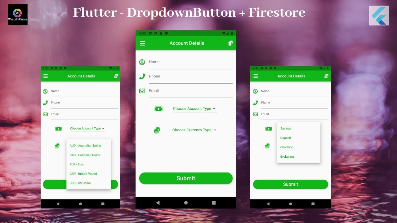 Download Flutter Tutorial - Flutter DropdownButton with Firestore