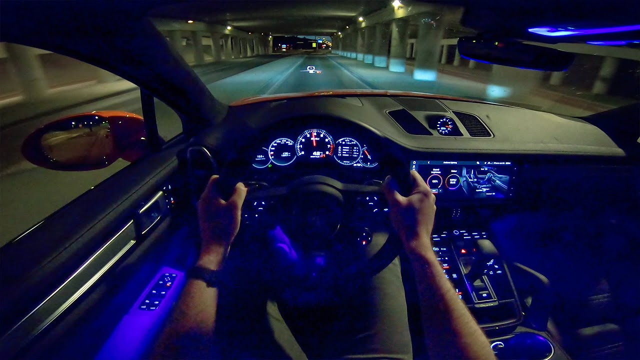 2020 Porsche Cayenne Coupe Turbo Night Drive Pov By Autotopnl Youtube