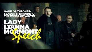 Lady Lyanna Mormont Speech - Game of Thrones S06E010 - The Winds of Winter