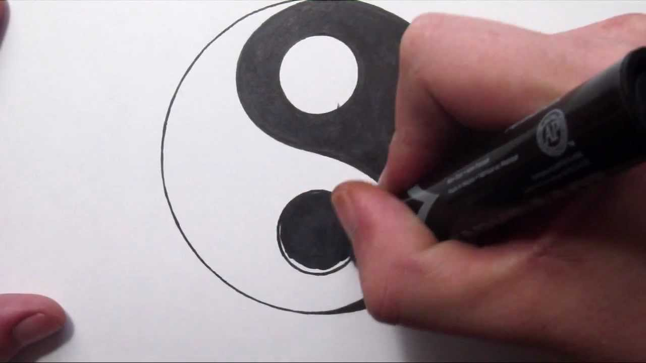 How To Draw A Yin Yang Symbol Youtube