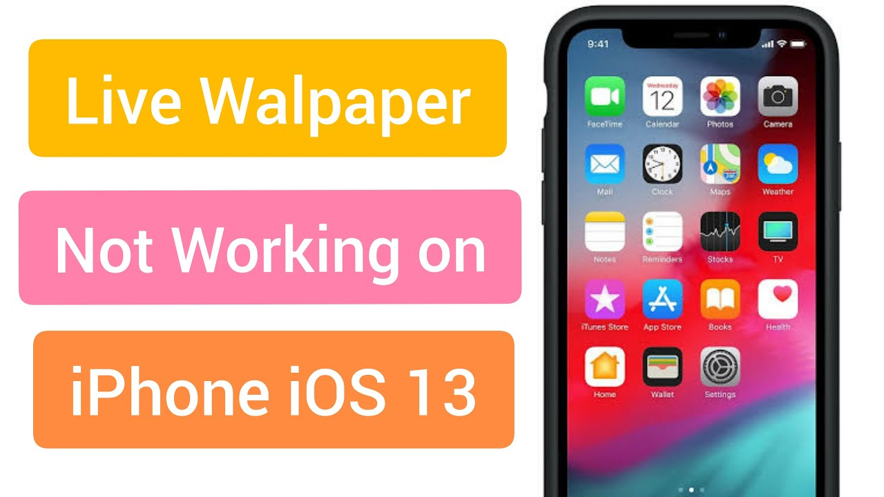 Ios 13 Live Wallpaper Not Working Fixed Youtube