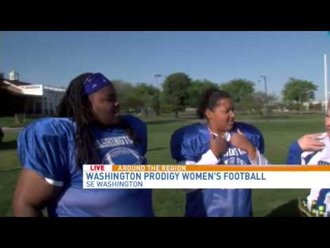 Washington Prodigy football players who are deaf share their experiences of playing on the team