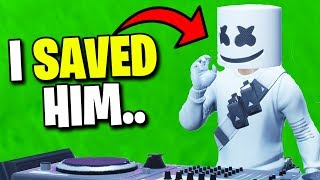 I SAVED The Marshmello Concert.. (Fortnite)