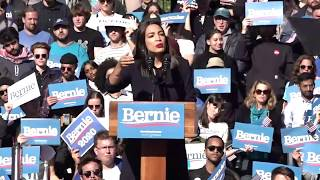 AOC endorses Bernie Sanders in New York City Video
