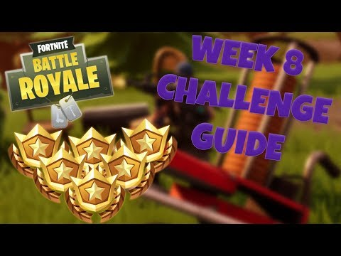 HOW TO COMPLETE ALL WEEK 8 CHALLENGES – SEASON 6 | FORTNITE BATTLE ROYALE TIPS/TUTORIALS