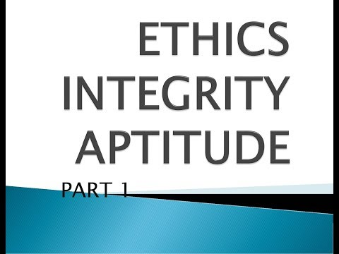 ETHICS AND INTEGRITY -1