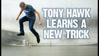 Tony Hawk Learns A New Street Trick with Donovan Strain