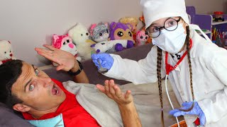 Kids Pretend Play with funny doctor
