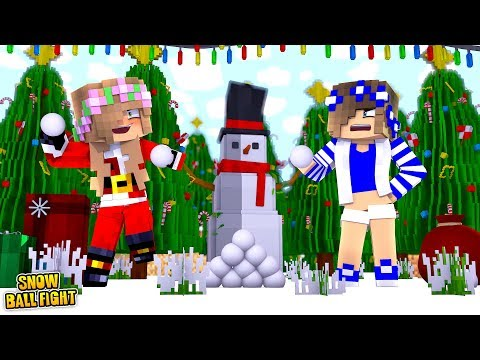 ULTIMATE SNOWBALL FIGHT! | Minecraft Little Kelly Plays