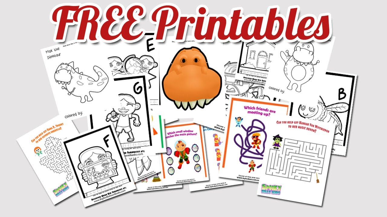 free printable kids activities coloring pages worksheets for children youtube - Free Kids Printable Activities