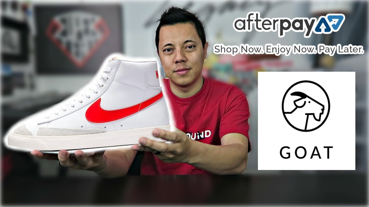 use AFTERPAY to buy SNEAKERS on GOAT