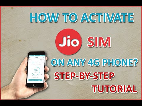 Live Activation - How To Activate Reliance JIO SIM On Any 4G Phone With Unlimited Data & Call(GUIDE)