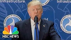 President Trump Tosses Oversized Binders To Highlight Infrastructure Red Tape   NBC News