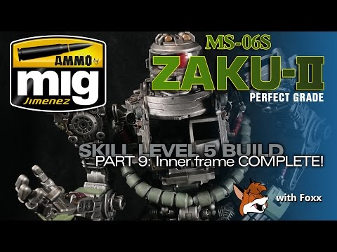 Ammo by Mig Jimenez PG Zaku II Part 9: Weathering & Completing the Inner Frame