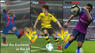 PES 17 vs PES 18 vs PES 19 [Android/ios] Trailer | Changes in Graphics !