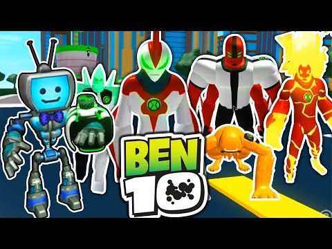 BEN 10 ARRIVAL OF ALIENS IN ROBLOX - Every Alien vs. Fandroid (Becoming PENNYWISE THE IT CLOWN)